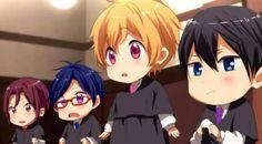 Rin, Rei, Nagisa and Haruka - chibi ^^