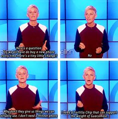 Ellen Nails it as Usual