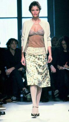 Helena Christensen for Collette Dinnigan Runway Show Fall/Winter 1997