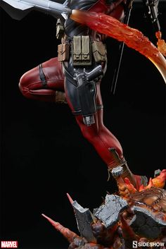 Marvel Deadpool Heat-Seaker From Sideshow Is Chaotic Glory To Feast Your Eyes Upon #deadpool #marvel #sideshow #toys Oh, Sideshow Toys. You are the reason we have can't have both money and nice things. Unsurprisingly, we consider money much more expendable than metic...