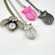 Hoge kwaliteit crystal uil zakhorloge vrouwen vintage mode strass ketting horloge vrouw sieraden roze fuschia in Waarom bij ons kopen en niet van andere aanbieders?verse batterijAlleen van goede kwaliteit.Laat je niet minder kwalitei van Pocket& fob horloges op AliExpress.com | Alibaba Groep