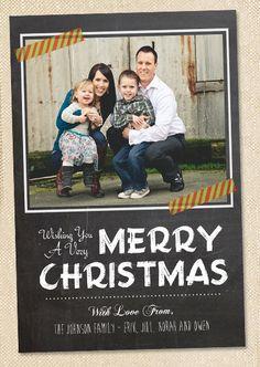 Chalk board Holiday Photo Card   digital file you by polkaprints, $12.00