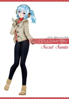 [Secret Santa] TDA Winter Miku [Download] by Fujiwara-no-Moko.deviantart.com on @DeviantArt