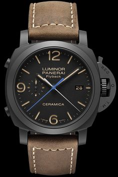 pre SIHH 2015 - Panerai Luminor 1950 3 Days Chrono Flyback Automatic Ceramica 44mm