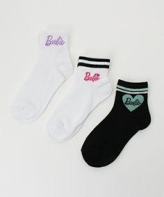Right-on KIDS(ライトオン)の【Barbie】3Pソックス(ソックス/靴下)|オフホワイト