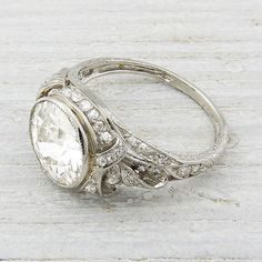 Vintage 233 Carat Diamond Engagement Ring by ErstwhileJewelry, $27500.00