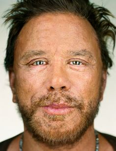 Mickey Rourke - Up Close & Personal -Celebrity Photography By Martin Schoeller