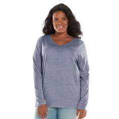 SONOMA life + style® Essential V-Neck Tee - Women's Plus Size