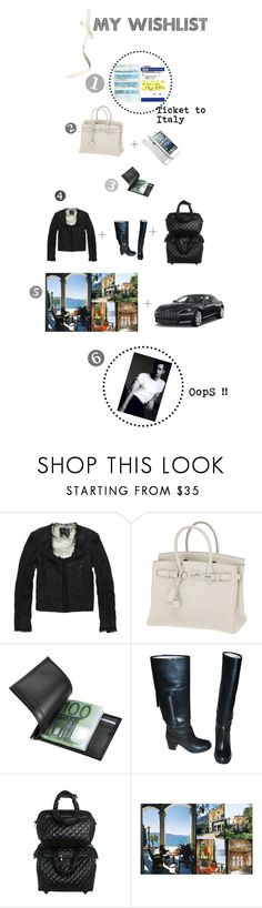 """oops !!"" by nai9 ❤ liked on Polyvore featuring Plane, Scotch & Soda, Hermès, Giorgio Fedon 1919, Chanel, Taschen and Aston Martin"