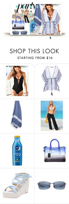 """""""Summerwear Pool Party"""" by pdunfee ❤ liked on Polyvore featuring Victoria's Secret, Nivea, Furla and Maui Jim"""
