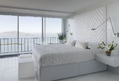 apartments pure white master bedroom decor with panoramic views for apartment interior design ideas for apartments