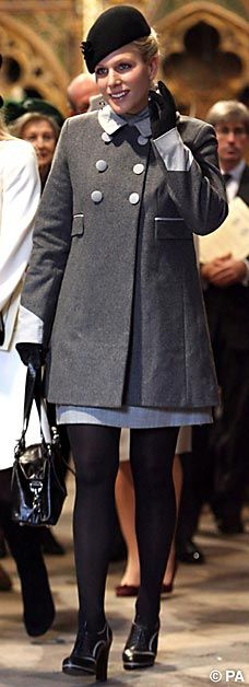 Stylish: Zara Phillips stole the show in a chic short skirt.