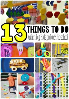 Big kids going back to school? You can help keep your younger children busy by trying these 13 things to do together after the big kids go back to school.