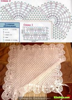 Baby Crochet Patterns Part 10 Baby Afghan Crochet Patterns, Crochet Blanket Edging, Baby Boy Crochet Blanket, Baby Shawl, Crochet Quilt, Crochet Borders, Diy Crafts Crochet, Crochet Projects, Bonnets