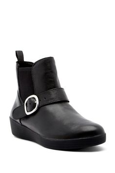 Image of Fitflop Super Buckle Leather Chelsea Boot