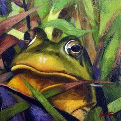 I spy with my funky frog eye a very hunky homo sapien.