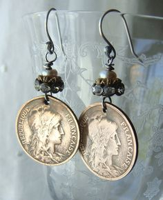 Hey, I found this really awesome Etsy listing at https://www.etsy.com/listing/209491143/vintage-french-bronze-coins-nouveau
