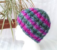 Cable Beanie. Hand Knit Hat. Beanies for Women. by JoyfulHandKnits