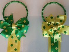 Ribbon Bow Holder with 4 inch matching bow by darlenedeal on Etsy, $10.00