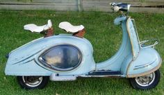 1957 Tessy Luxus Scooter (TWN German) 125cc Single Cylinder 2-Stroke Air-Cooled engine