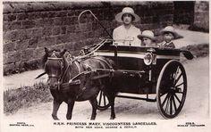 Princess Royal Mary, Viscountess Lascelles mit ihren Söhnen