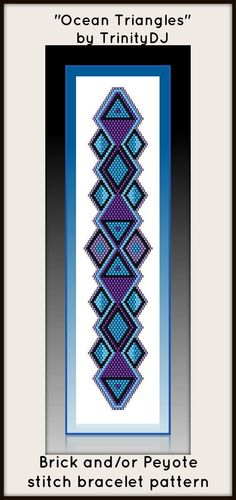 BP-BR-003 - Ocean Triangles - In The RAW - Brick stitch bracelet pattern
