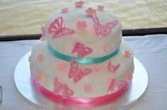Butterfly Cake using the Cricut Cake machine