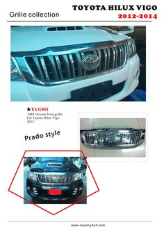 Hilux Vigo 2012 grille(prado style) 4x4 Accessories, Toyota Hilux, Prado, Abs, Style, Swag, Crunches, Abdominal Muscles, Killer Abs