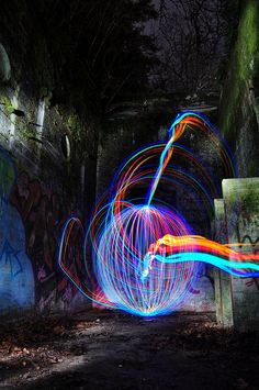 Trick Photography and Special Effects by Evan Sharboneau Light Trail Photography, Light Painting Photography, Book Photography, Orb Light, Light Art, Photo Lighting, Neon Lighting, Fractal Art, Fractals