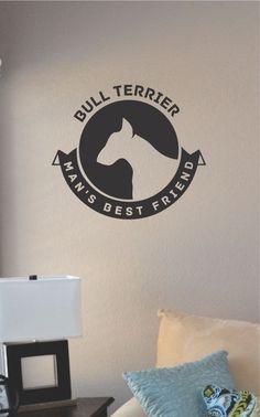 Slap-Art™ Bull Terrier Dog Man's Best Friend by VinylMasterpieces