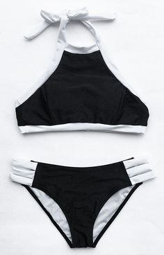 You don't need color to look totally fire. Classic makes fashion, this b&w bikini set is as fashion as classic. Soft and easy to wear, you must have one.