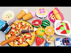 Toy Velcro Cutting Food Pizza, Ice Cream, Hamburger Playset Toys baby doll