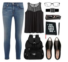 """Backpack To School"" by nansg ❤ liked on Polyvore featuring moda, rag & bone, H&M, Miu Miu, Sherpani, Wild & Wolf, Ted Baker, GlassesUSA e Isabel Marant"