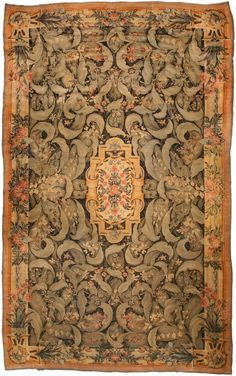 A European Antique Rug. Perfect choice for traditional interiors as well as for a modern interior design. The carpet is of a very good quality Price: $180,000
