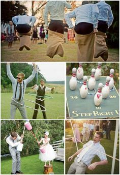 Dont have a typical wedding plan fun games for the whole party to engage your guests with quirky games like sack racing jumbo scrabble wedding wheel and darts junglespirit Images