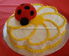 This one would satisfy my desire to avoid trying to make a bunch of red and black frosting-I'm imagining ending up with a pink and grey ladybug oops cake!