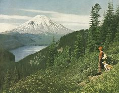 Mount St. Helens and Spirit Lake  National Geographic | November 1952