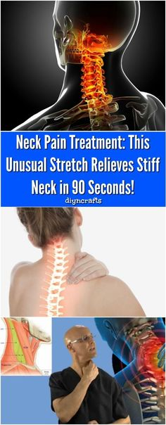 - Neck Pain Treatment: This Unusual Stretch Relieves Stiff Neck in 90 Seconds! Neck Pain Treatment: This Unusual Stretch Relieves Stiff Neck in 90 Seconds! Doctor explains a simple stretch that heals stick neck. via Vanessa Neck And Shoulder Pain, Neck And Back Pain, Sore Neck And Shoulders, Sore Neck Muscles, Neck And Shoulder Stretches, Shoulder Pain Relief, Shoulder Pain Exercises, Tight Neck, Neck Pain Treatment