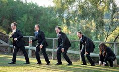 Evolution of groomsmen shot