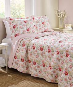 Love this Pink Peony Garden Quilt Set by Laura Ashley Home on #zulily! #zulilyfinds