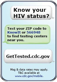 """CDC Knowit text messaging campaign - within seconds of texting """"KNOWIT"""" with your zip code you'll receive a text message with HIV testing sites near you Test Day, Fight The Good Fight, Medical Advice, Text You, Public Health, Social Work, Text Messages, Knowing You, Zip Code"""
