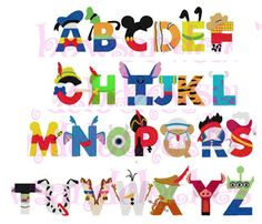 Disney inspired  letters font embroidery by BowsAndClothesDesign, $5.75