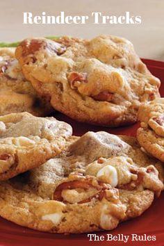 Reindeer tracks – My Recipe Magic - Postres Candy Cookies, Xmas Cookies, Yummy Cookies, Reindeer Cookies, Cheryl Cookies Recipe, Best Holiday Cookies, Super Cookies, Crispy Cookies, Holiday Baking
