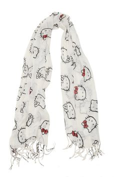 LOUNGEFLY HELLO KITTY WHITE RED SCARF