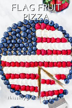 If you want a fun and easy dessert for the upcoming holiday seasons then you have to try this tasty Flag Fruit Pizza. Sugar Cookie Dough, Cookie Crust, Easy Desserts, Dessert Recipes, Snack Recipes, Pecan Cobbler, Stabilized Whipped Cream, Store Bought Frosting, Fudge Recipes