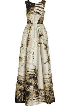 Alberta Ferretti Metallic jacquard gown | NET-A-PORTER