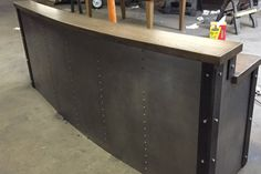 Post & Beam Rustic Industrial Bar Height Table - The Industrial ...