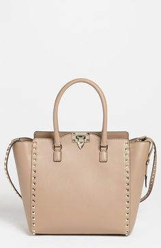 Valentino 'Rockstud' Double Handle Leather Tote |  2,145.00