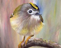 SALE Bird Art Painting Bullock's Oriole SFA by ArtDownUnder