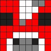 Minecraft Mooshroom Head Perler Charm Perler Bead Pattern / Bead Sprite